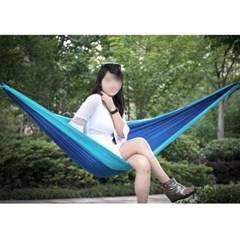 [캠핑존] 플라잉 초경량 캠핑해먹 (스카이블루/270x140cm)