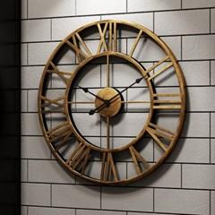 엔틱 원형 아날로그 거실 로마 숫자 빈티지 벽시계
