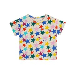 [마미버드] 박스 스타 티셔츠 (2color)