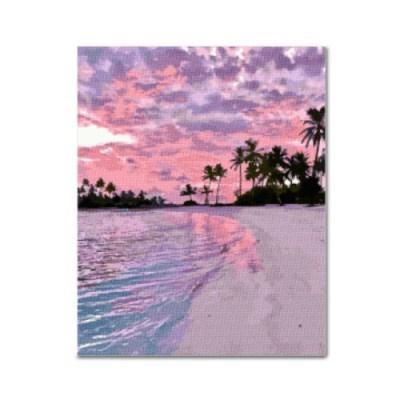 DIY 보석십자수 - 핑크빛 해변 BH03 (40x50)_(1605431)