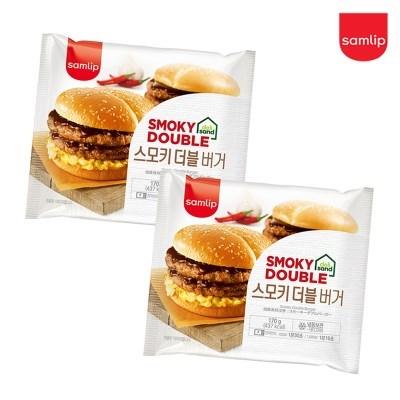 냉동 스모키더블버거 8봉/햄버거/간식/간편식/즉석식품/_(2674228)