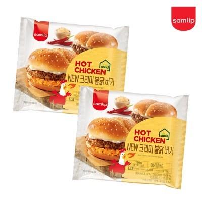 냉동 크리미불닭버거 4봉/햄버거/간식/간편식/즉석식품/_(2674233)