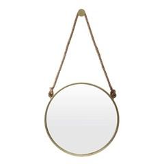 빈티지 스트랩 벽거울(50cm) (골드) 화장대거울