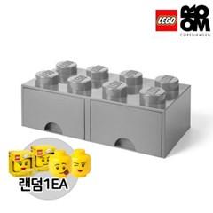[레고스토리지]레고서랍형8구-그레이(추가구성-미니헤드)