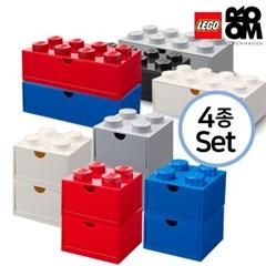 [레고스토리지]레고 책상용 미니4구2개+미니8구2개(4종세트)
