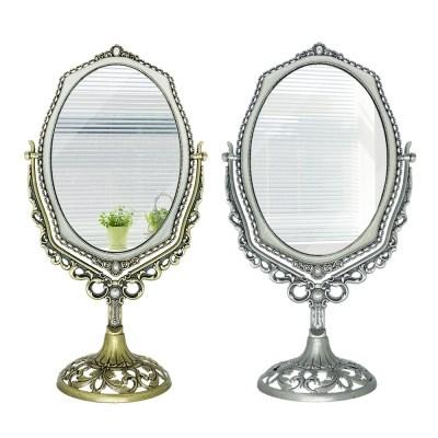 탁상 화장대 보조 회전 양면 거울 엔틱 인테리어 소품
