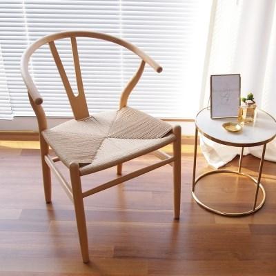 마루이 오슬로 라탄 원목 Y 디자인체어