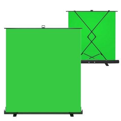VDR-M202 이동식 사진영상촬영 풀업 크로마키 롤스크린 200X200cm