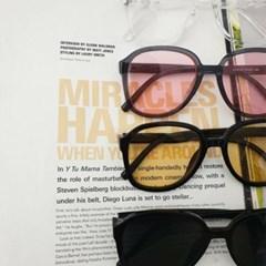 둥근 핑크 도수없는 가벼운 데일리 패션 선글라스