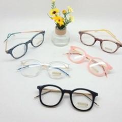 블랙 투명 사각 가벼운 도수없는 데일리 패션 안경