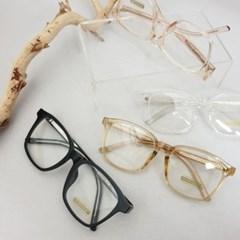 불테 사각 투명 가벼운 도수없는 데일리 패션 안경