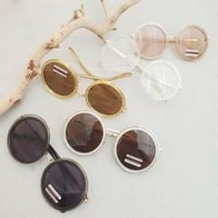 동그란 서클 가벼운 도수없는 블랙 데일리 패션 안경