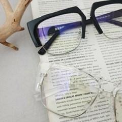 사각 반테 블랙 투명 도수없는 가벼운 패션 안경