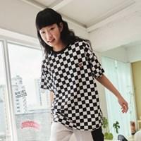 [프리키쉬빌딩] SEGU CHECKERBOARD SHORT SLEEVE T SHIRTS