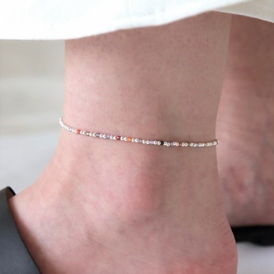[Silver925] Color stone anklet_(1546754)