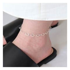 [Silver925] Cutting round anklet_(1546741)