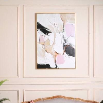 로즈블랑 추상 아트 캔버스 포스터 그림액자 (70x90)