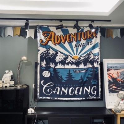 감성디자인 대형 패브릭 포스터 130cm x 150cm - 카누잉