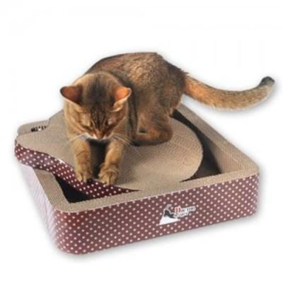 고양이 스크레쳐 스퀘어 장난감 골판지 미묘 스크래쳐