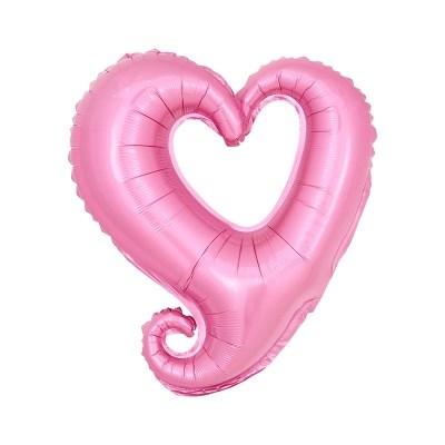 [원팩] 러브은박풍선 하트프레임 소 핑크 45cm_(12240335)