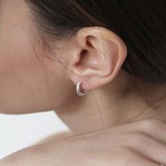 [Silver925] TN025 Basic round semi bold earring