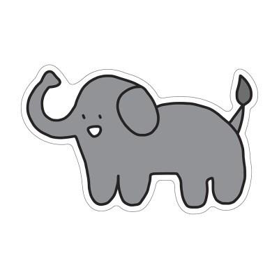 코끼리 코롱이 리무버블 스티커