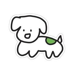 강아지 옥옥이 리무버블 스티커