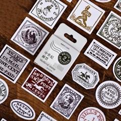 클래식 빈티지 우표 다꾸 스티커팩