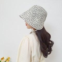 턱끈 블랙 챙넓은 데일리 보넷 버킷햇 벙거지 모자