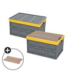 몬스터캠핑 우드상판 캠핑테이블 트렁크정리함 폴딩박스