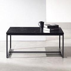 [데코마인] 자민 대리석 800 블랙 거실 소파테이블