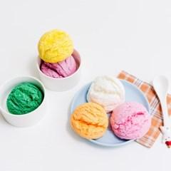 DIY 아이스크림 버블바 배쓰밤 입욕제 만들기 키트, 5개 완성