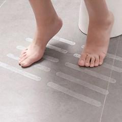 바닥 미끄럼방지 투명스티커 48p(2x20cm) 계단 화장실