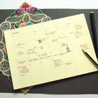 Paperways Desk Notepad -Monthly
