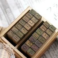 앤틱 스쿨북 알파벳스탬프 (대문자)