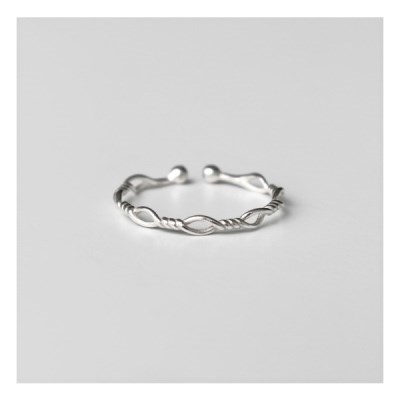 [Silver925] Slim knot ring_(1550579)