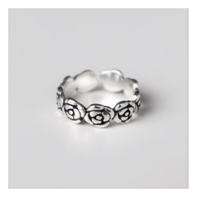 [Silver925] Rose knuckle ring_(1550568)