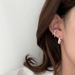 [Silver925] Cross earcuff_(1550564)