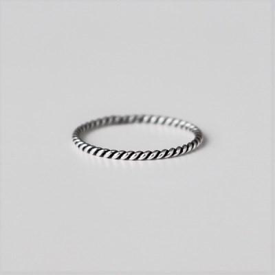 [Silver925] Twist ring(1mm)_(1551972)