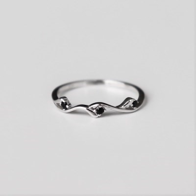 [Silver925] Wave cubic ring_(1551970)
