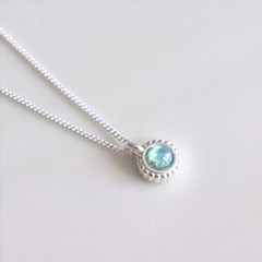 [Silver925] Mint opal necklace_(1551963)