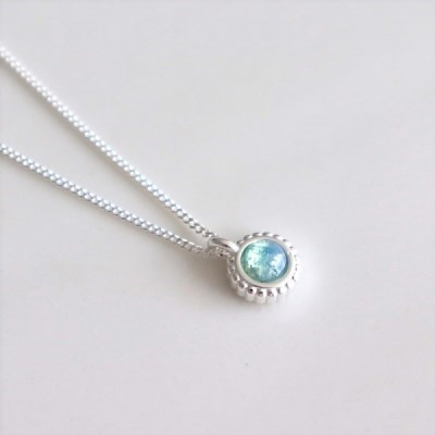 [Silver925] Mint opal necklace_(1551963)