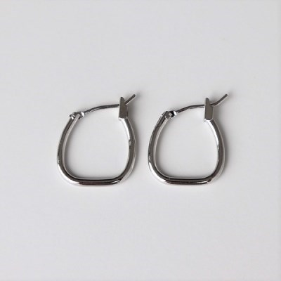 Thin square earring_(1551960)