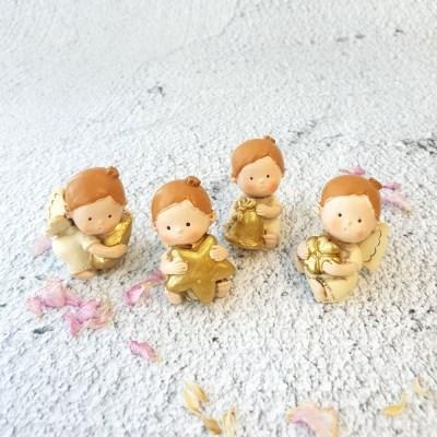 크림 골드 아기 천사 4종
