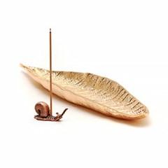 나뭇잎 달팽이 인센스홀더
