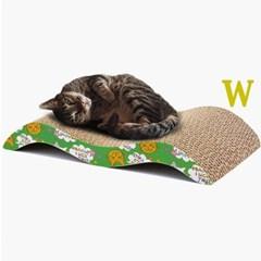 도트캣 퍼니 스크래쳐 W자형 고양이힐링 장난감