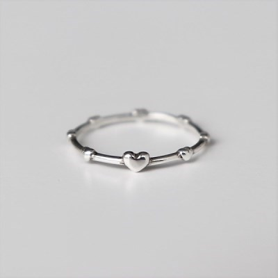 [Silver925] Heart dot ring_(1551978)