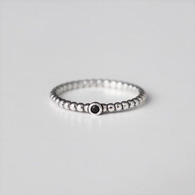 [Silver925] Black point ring_(1551977)