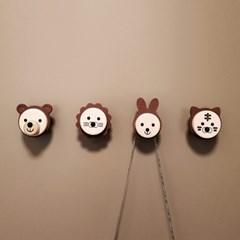 심쿵유발 동물친구들 현관자석마스크걸이