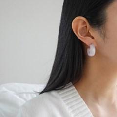 기본 심플 링 민트 화이트 패션 E1122 귀걸이